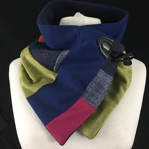 Royal blue lime and pink neck warmer