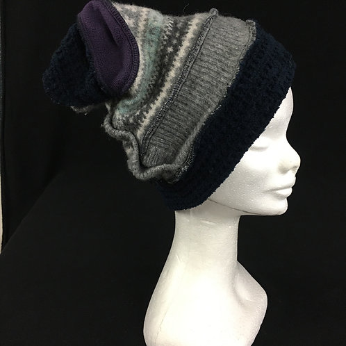 Grey and navy hat