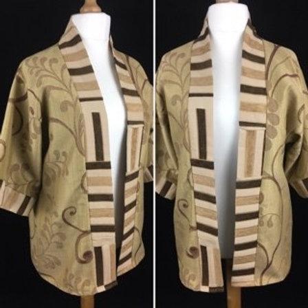 Free size floral print kimono jacket