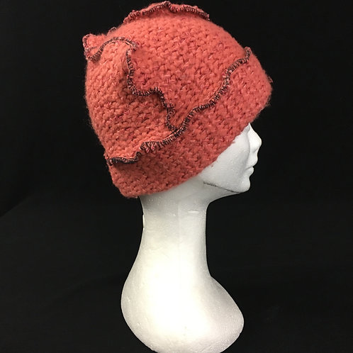 Funky coral knit hat