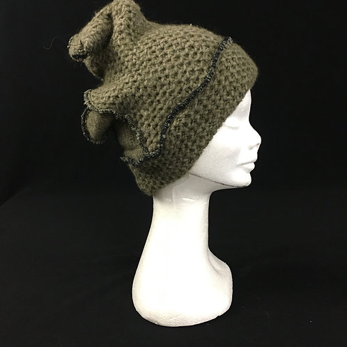 Green winter knit hat