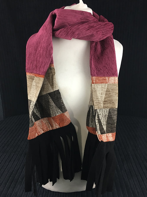 Extra long pink scarf