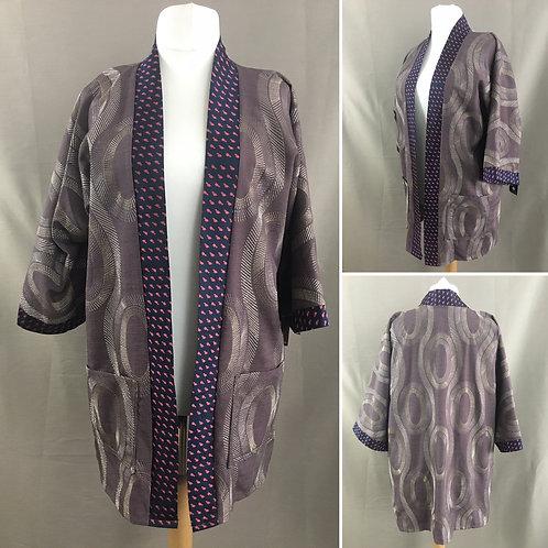 Purple unisex kimono jacket