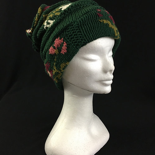 Pretty green knitted hat