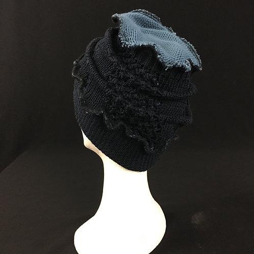 Navy blue 2 tone hat