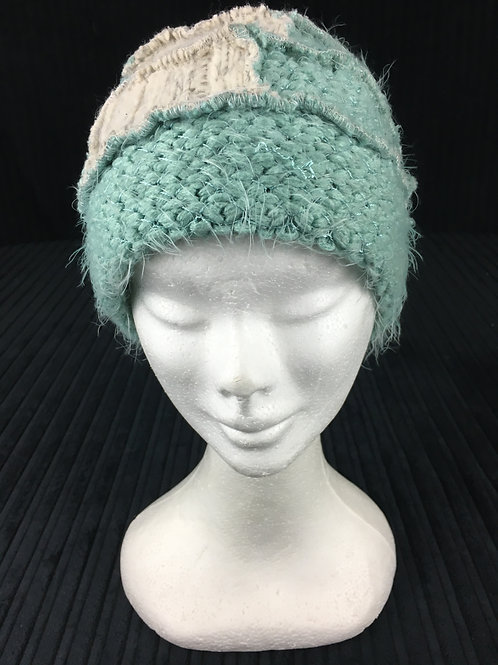 Soft and fuzzy mint green hat