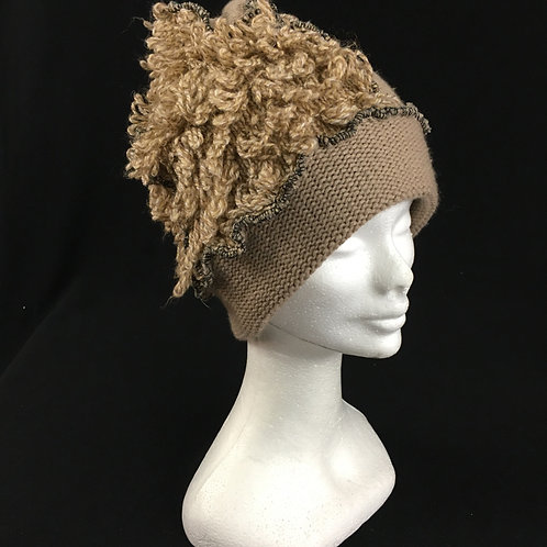 Fuzzy tan hat