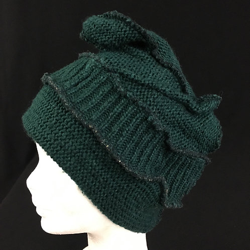 Green eco friendly knit hat