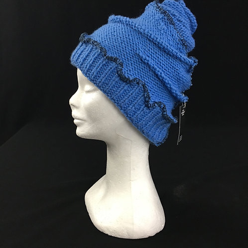 Blue upcycled hat