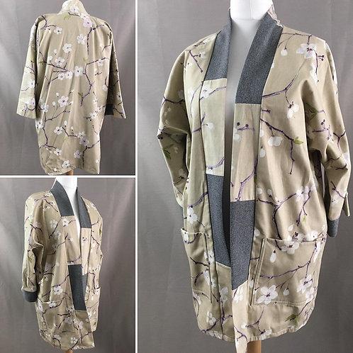 Beige cotton kimono