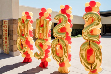 Traditional 2-color swirl columns with jumbo numbers