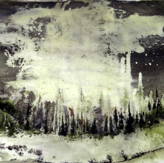 Alvaro Petritoli, Cloud valley, ink on p