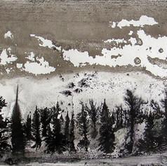 Alvaro Petritoli, Grey horizon , ink on