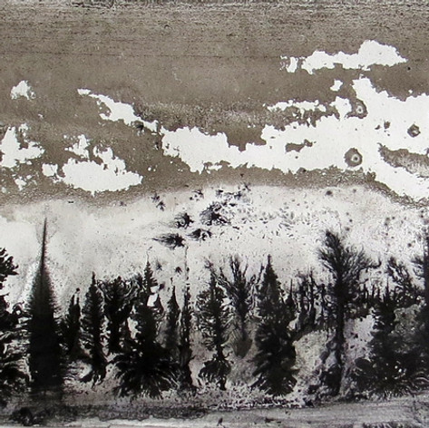 Alvaro Petritoli, Grey horizon , ink on
