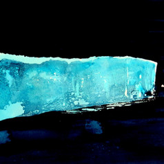 Arctic shelf, ink on watercolour paper,