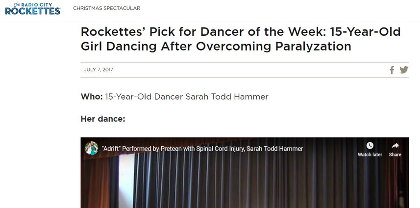 Rockettes' Dancer of the Week