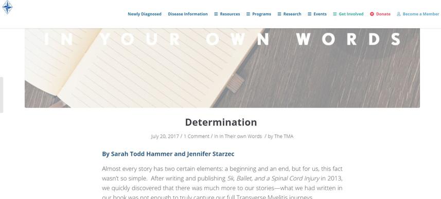 TMA Article - Determination