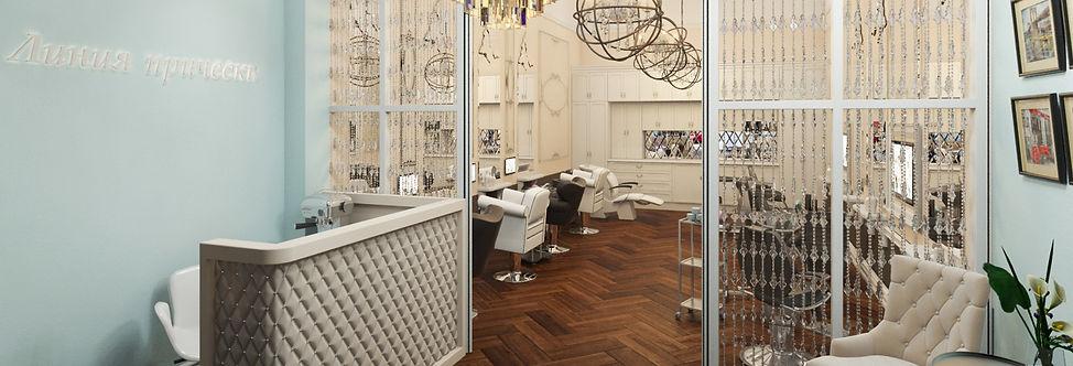 Интерьер парикмахерской Линия прически