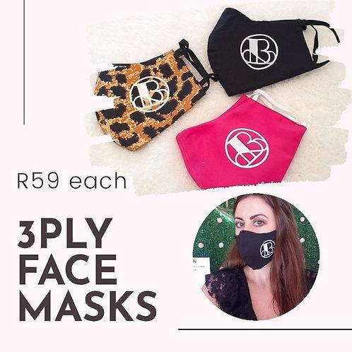 Bosky 3 Ply Face Mask
