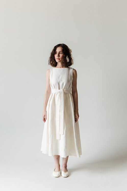 BOUQUET DRESS - OFF WHITE