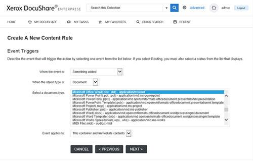 Docushare graphic-content-rules-screensh