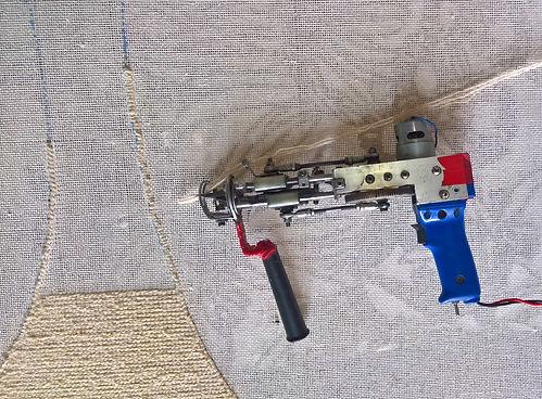 Pistolet électrique tapis tufté