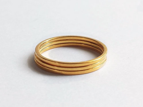 14K Yellow Gold Minimalist Stacking Ring