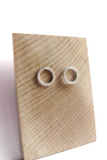 Sterling Silver Round Rope Studs