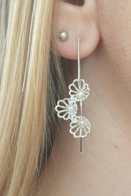 Abalone Cascade Drop Earrings
