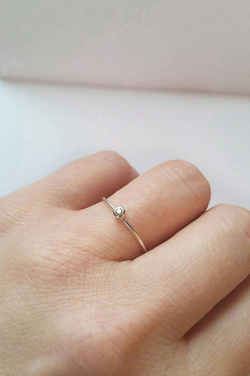 Custom Sterling Silver Spinel Solitaire Ring