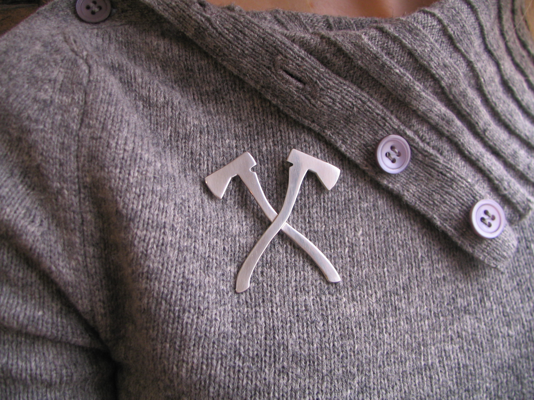 Axe Brooch