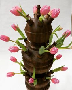 Three Part Tulip Vase.