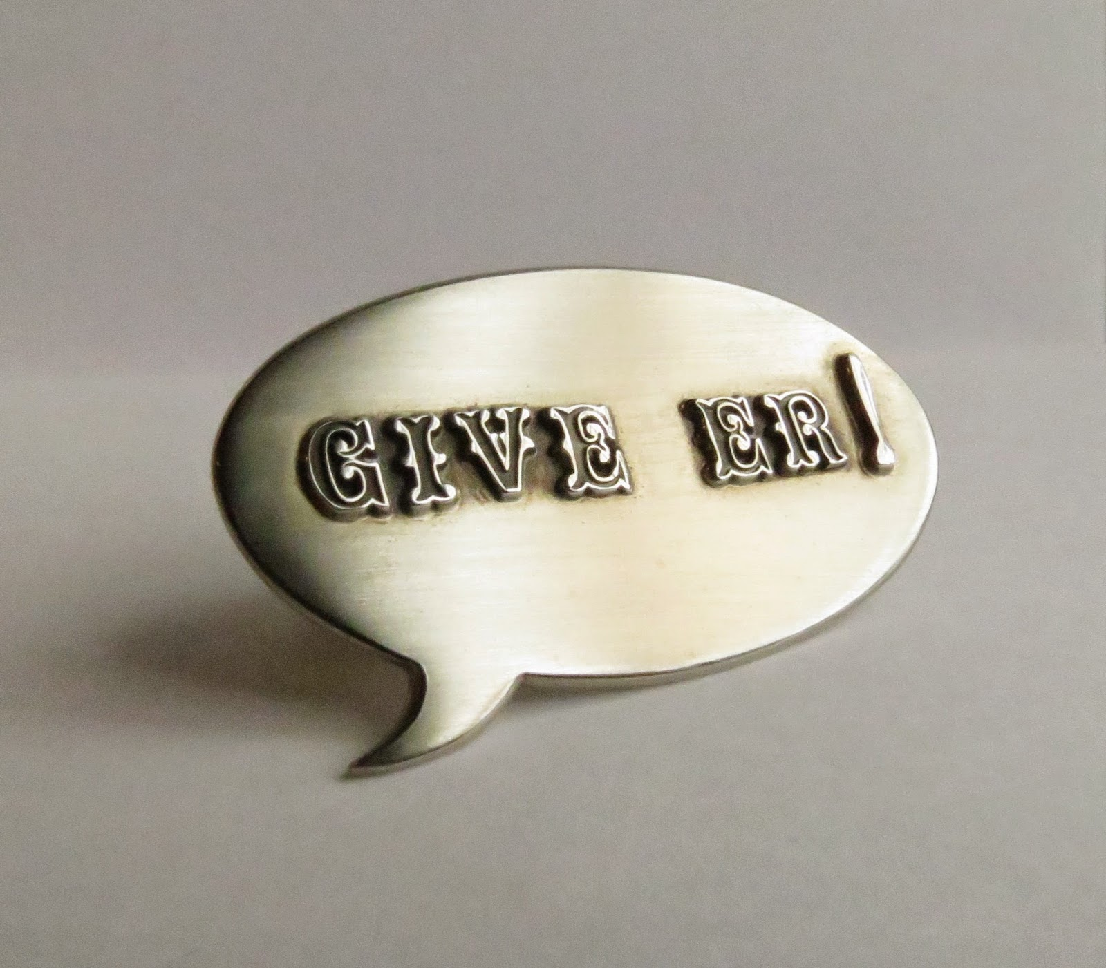 Game On! Give Er! Brooch