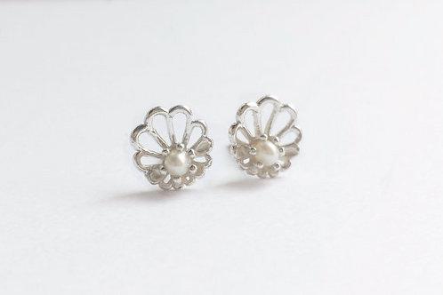 Sterling Silver Abalone Stud Earrings