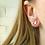Thumbnail: Minimalist Sterling Silver Triangle Studs