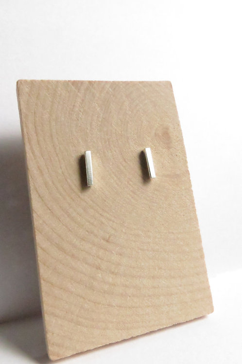 Minimalist Small Sterling Silver Bar Studs
