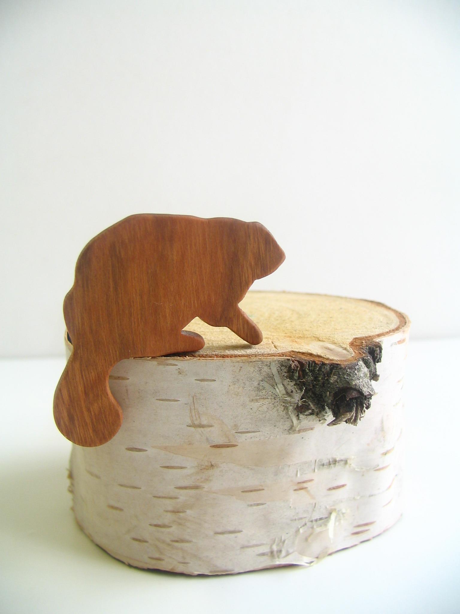 Beaver Brooch