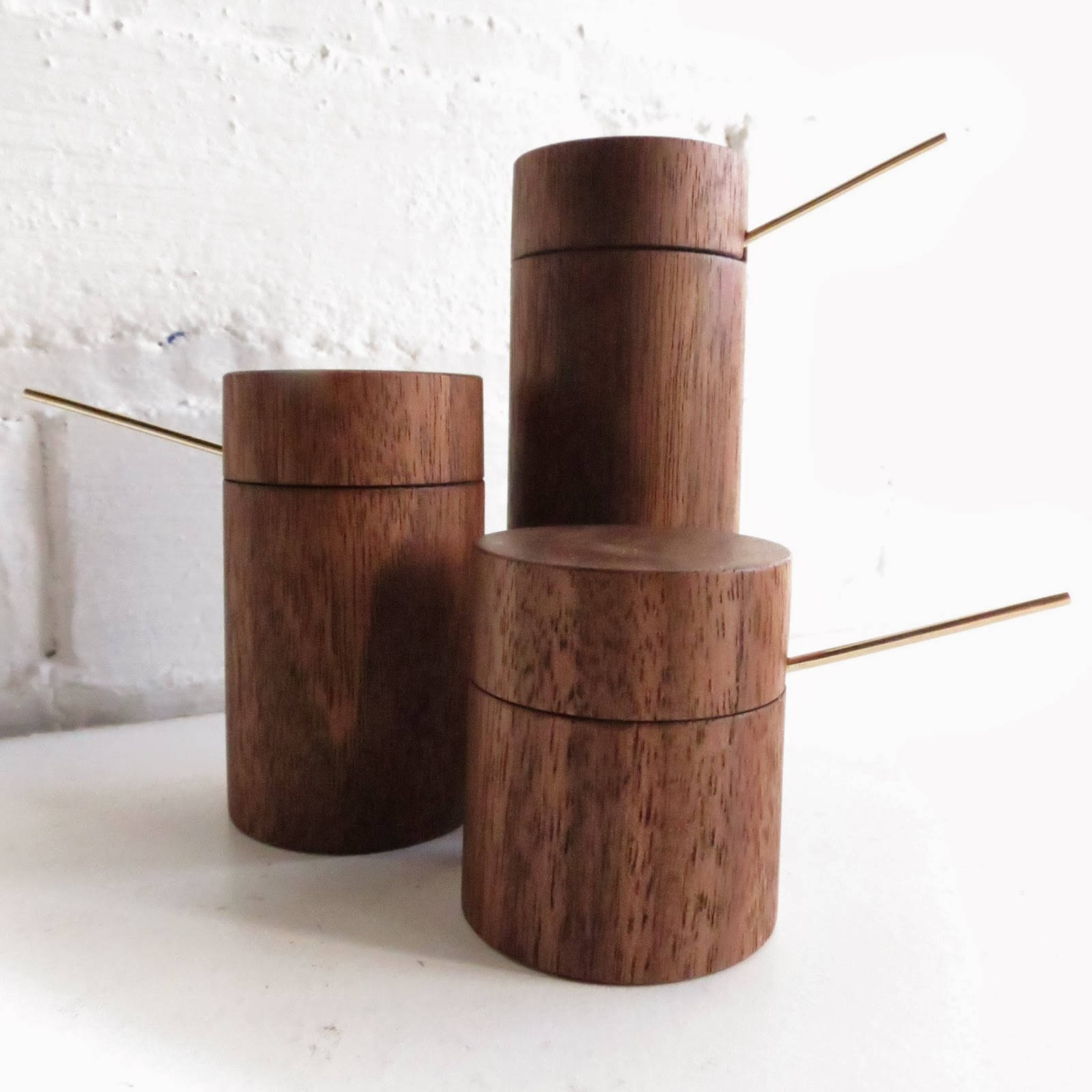 Walnut Salt Cellars