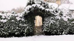 Snowy entrance