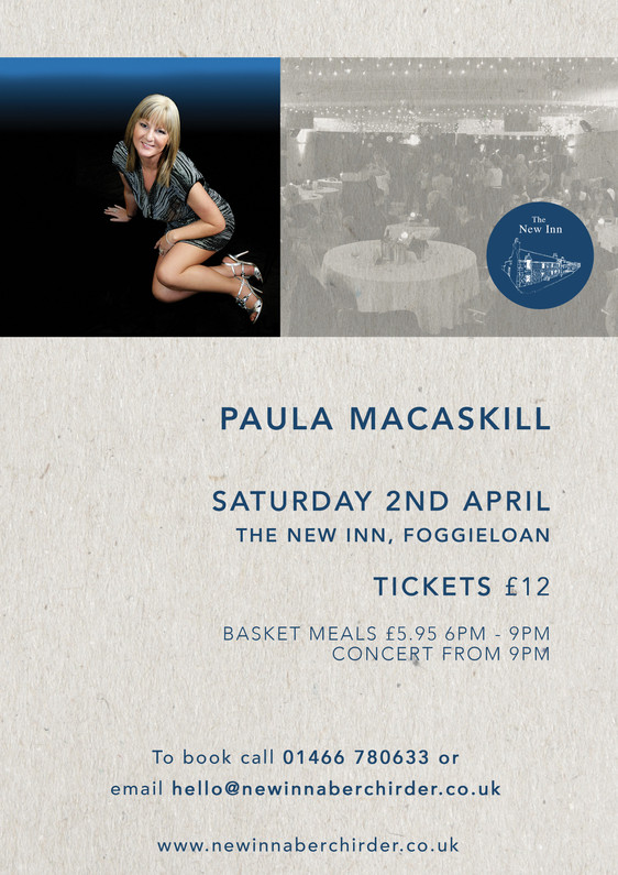 Live Music | Paula Macaskill | Saturday 2nd April 2016