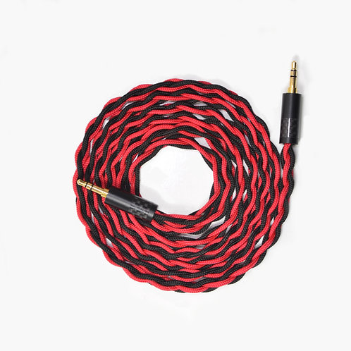 Yarara - custom 4 strand interconnect headphone cable – black