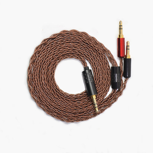 Taipan - custom 8 strand headphone cable - brown
