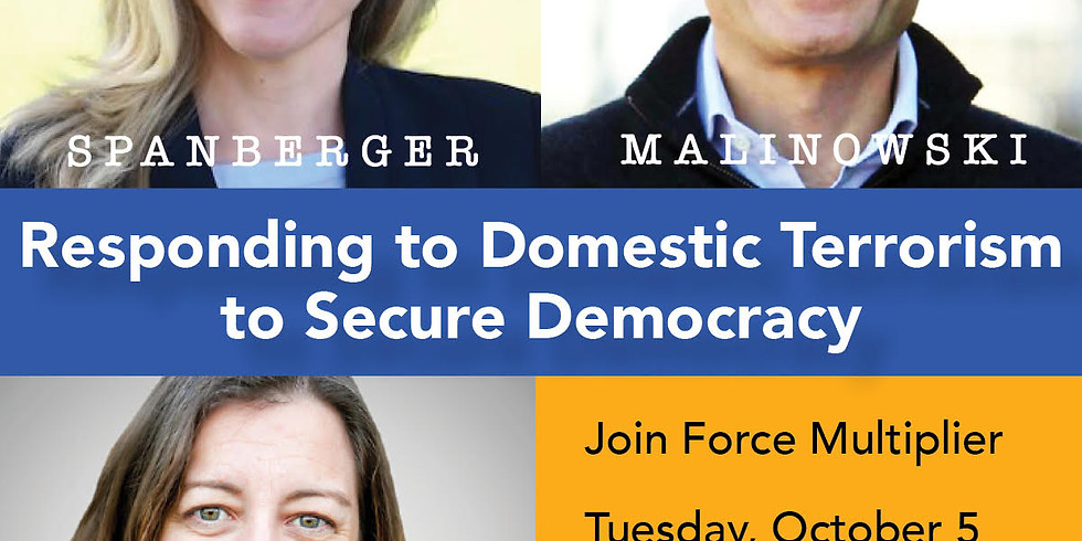 Responding to Domestic Terrorism: A Conversation wth Congs. Spanberger, Malinowski and Luria