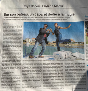 magicboat cabaret spectacle vendee 85