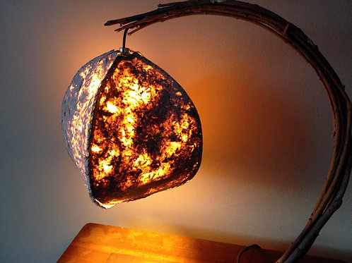 """The Meteorite"" - Curved Willow Table Lamp"