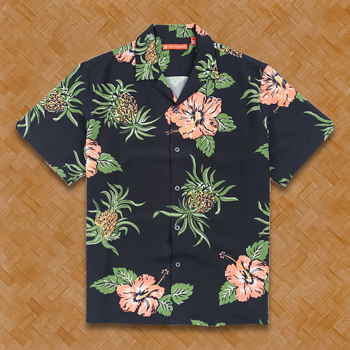 TR: Hibiscus Pineapple (Black) Relaxed Fit