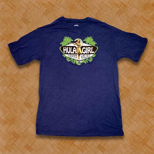 HG: Hula Girl Tee (Navy)