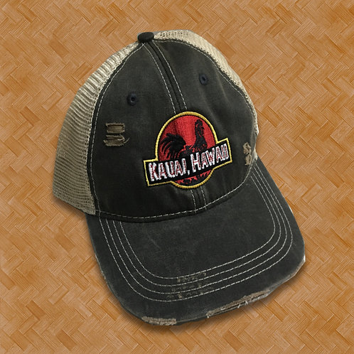 RAH: Jurassic Rooster Distressed Cap (Black)