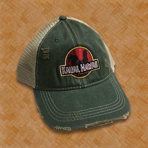 RAH: Jurassic Rooster Distressed Cap (Green)