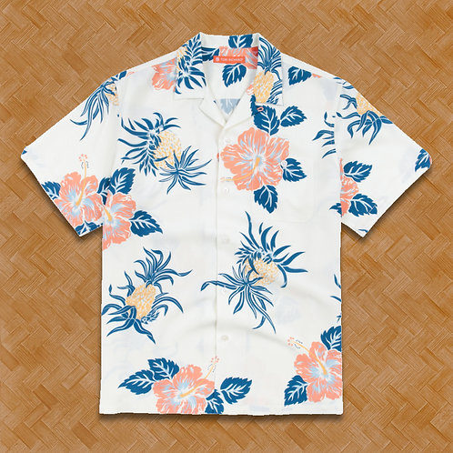 TR: Hibiscus Pineapple (White) Relaxed Fit